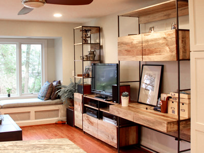 mudroom family room renovation 4